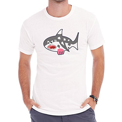 Shark Sea Fish Predator Cow Herren T-Shirt Weiß