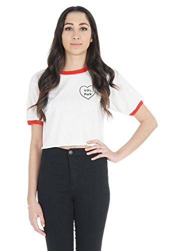 Sanfran Clothing Damen Lamarmshirt White (with Red Trim)