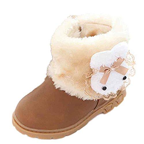 Sannysis Winter Warm Stiefels Kleinkind Baby Mädchen Warm Halten Niedlich Bogen Schneestiefel Weiche Sohlen Krippe Schuhe Stiefel Winterstiefel