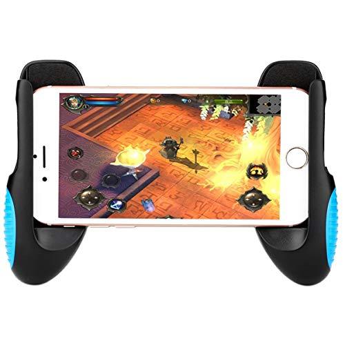 Saitake Poignée Support Manette de Jeu Universel Portable pour iPhone Android Samsung Smartphone longueur de 12.8 à 17cm, Bleu