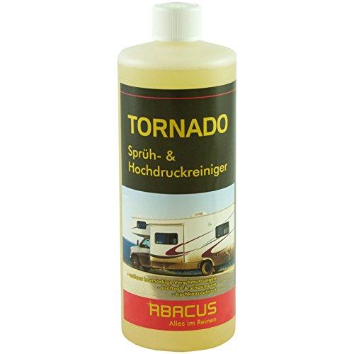 ABACUS Tornado 1000 ml (2645) - Sprühreiniger Hochdruckreiniger LKW Reiniger Planenreiniger Wohnmobil-Reiniger Fettlöser Öllöser Rauchteerentferner Teerentferner Rußentferner Baumharzentferner