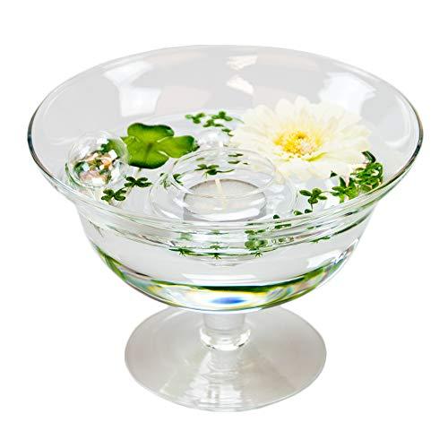 Bol roxy 76 hauteur : 13 cm-diamètre : 18 cm (avec décoration fleur gerbera blanc)