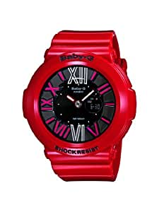 CASIO Baby-G Women's Quartz Watch with Black Analogue/Digital Display and Red Resin Strap BGA-160-4BER