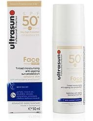 ULTRASUN Gel Solaire anti-âge Tinté Face Tinted Ivory SPF50+, 50ml