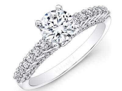 14K Solid White Gold Verlobungsringe (alle Größen verfügbar) 1.12ct Rundschnitt Echte Solitaire Diamantringe für Frauen