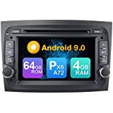 KUNFINE Android 9.0 PX6 Cortex A72 4G Ram 64G ROM Autoradio GPS Navegación DVD Radio Control