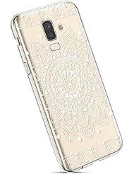 blume Ysimee H/ülle kompatibel mit Samsung Galaxy J8 2018 Transparent Ysimee UltraD/ünn Weiche SchutzH/ülle TPU Silikon Bumper Case Cover Durchsichtig Sto/ßfest EINWEG Gummi Sto/ßd/ämpfend SilikonH/ülle