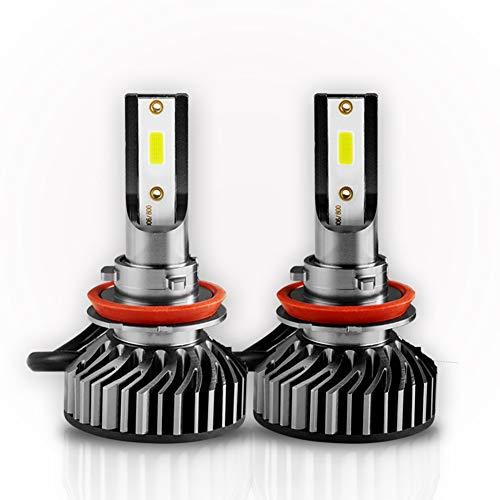 Scheinwerfer Umkehrer Kit, Auto-Scheinwerfer 8000LM Lampe Perlen Scheinwerfer Headlamp Car Motorrad Front Light Glühbirnen Off-Road Car Zubehör 6500K High Beam IP65-Pack von 2,H7 - Zubehör-ventilator-licht-kit