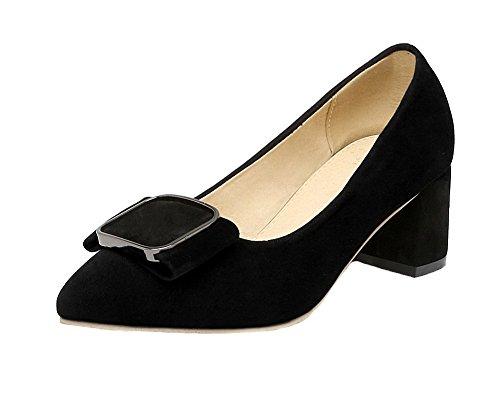 Talon Tire Agoolar Couleur Correct Noir Chaussures Dépolissement IqUIXa8x