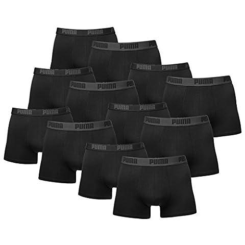 12 er Pack Puma Boxer shorts / schwarz / Size