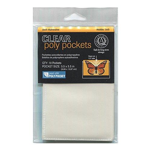 Lineco Peel-Stik Poly Pocket 3.5X5.5In 10/Pkg