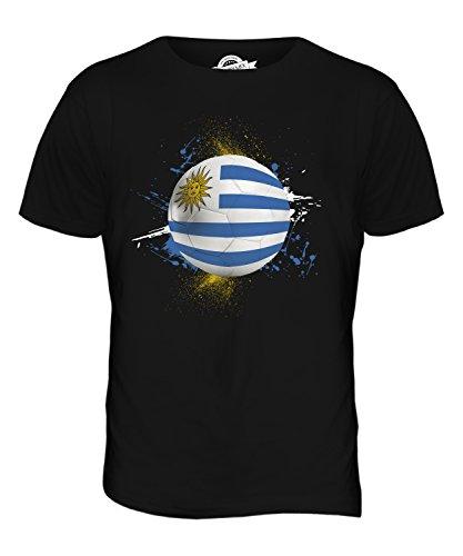 CandyMix Uruguay Fußball Herren T Shirt Schwarz