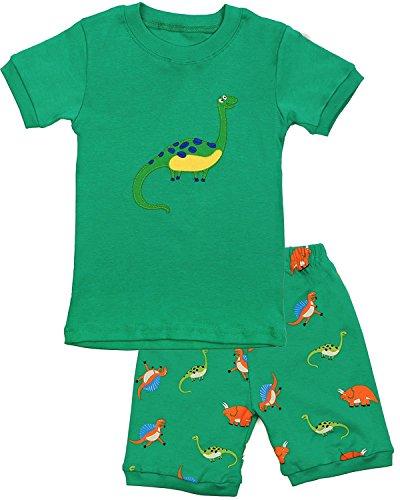 Grsafety Jungen Nachtwäsche Short Pyjamas Set Kinder Dinosaurier Tier Baumwolle Sommer Kleidung Shirts Nachtwäsche 3-4Y (Kleinkind Schlafanzug Jungen)
