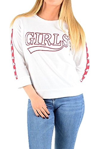 Islander Fashions Womens Solo BRYKLYN & Filles Imprim Top Dames Col Rond Manches Longues Chemise S, M, L White Girls Pinted