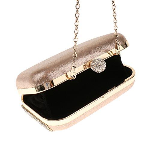 Sharplace Diamante Matrimonio Pochette da Sposa Spalla Borsa Elegante Frizione per Sera Feste Nozze Eventi #1
