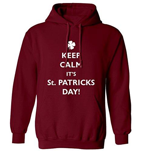 Keep Calm it 's St. Patricks Day Hoodie XS–2X L Gr. Medium, (St Patricks Party)