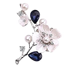 Zonfer Plum perla strass Spilla Pin Accessori Donna Gioielli Bianco