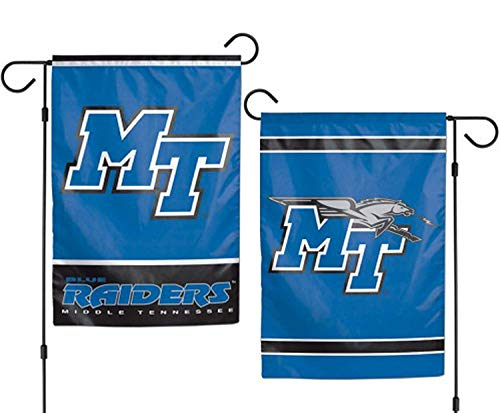 ASKYE Middle Tennessee State University Blue Raiders Garden Flag NCAA for Party Outdoor Home Decor(Size: 28inch W X 40inch H) -