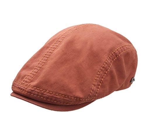 Gottmann - Flatcap, Schiebermütze, Newsboy Cap Herren Orlando - Size 62 cm - orange-85