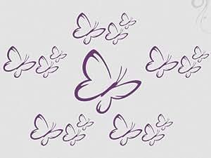 Wandtattoo Schmetterlinge 16 Wandsticker Motiv 3-weiß_10