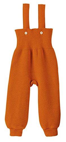 Disana 33106XX - Strick-Trägerhose Wolle orange, Size / Größe:50/56 (0-3 Monate)