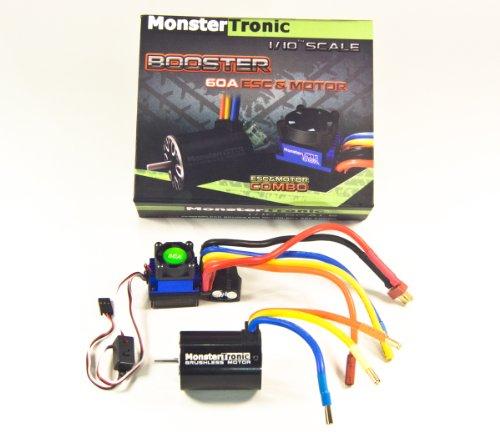 MONSTERTRONIC BOOSTER COMBO 8TURN 1/10 BRUSHLESS 8 TURN MOTOR + 60 AMPERE REGLER -