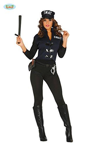 KOSTÜM - S.W.A.T. POLIZISTIN - Größe 38-40 (M), US Spezialeinheit Amerika (Kostüme Polizistin)