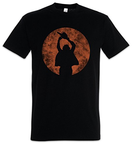 Chainsaw Man Herren T-Shirt Kettensägen Massaker Texas Horror Movie Massacre Leatherface Mask