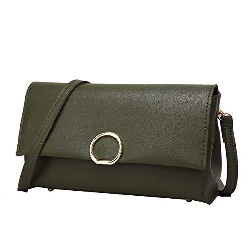 Frauen Arbeiten Litschi Muster Schultertasche Handtasche Darkgreen