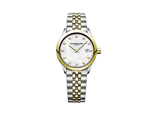 Montre à Quartz Raymond Weil Freelancer Ladies, Diamants, Nacre, 5629-STP-97081