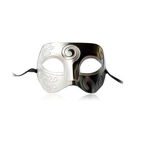 Nicky Halbsmaske für Erwachsene Venezianische Maskerade Kostüm Halloween Karneval Fasching Kostümparty Verkleidung Opernball Cosplay Maske Gesicht Party Unisex Damen Prinzessin und Herren (Römische Kostüm Prinzessin Halloween)