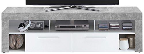 FMD Moebel 271-002 Vibio 2 Meuble TV/Hifi Bois Gris 180,0 x 41,5 x 53,0 cm