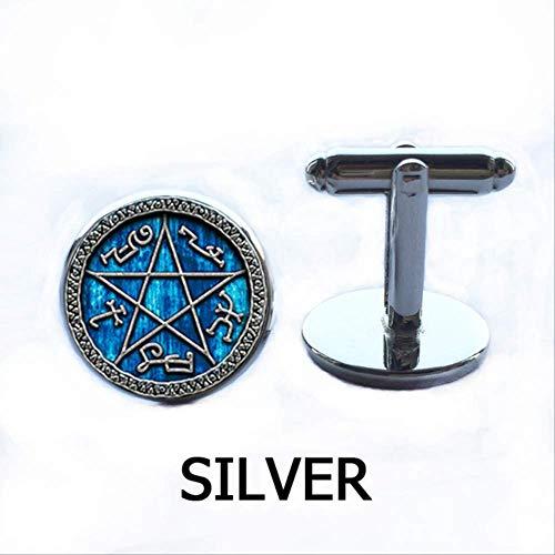 cxh98k Übernatürliche Falle Halskette, Schmuck, Glas, konvex, Runde Halskette Manschettenknopf 16 mm