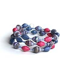 Handmade Paper Bead Bracelet