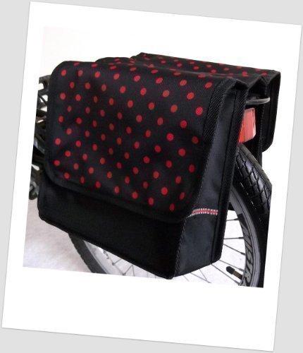 T-JOY-34 Fahrradtasche JOY dots little 1 red Kinderfahrradtasche Satteltasche Gepäckträgertasche 2 x 5 Liter KINDER