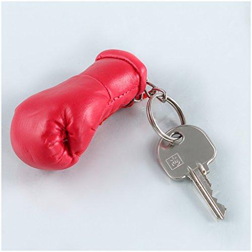 Schlüsselanhänger / Anhänger für Schlüssel - ROT - Boxhandschuh mit Schlüsselring, 7 cm groß