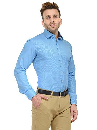 9739939005f2 39% OFF on RG Designers Micro Checks Sky Blue Solid Slim Fit Formal Shirt  For Men on Amazon | PaisaWapas.com