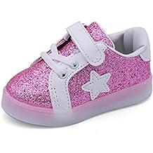 Envío Gratis Bebé niño niña LED zapatillas con luces ,Yannerr Chica Chico luminoso colorido ligeros deporte Running llevó antideslizante zapatos