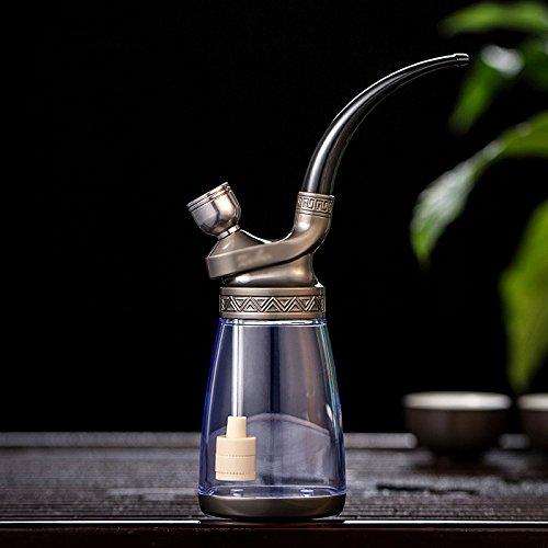 MJJ GJY Shisha - ganze Reihe von Glas Wasserpfeife - reine Kupfer Vintage Shisha - Rauch Topf Shisha - Filter Zigarettenspitze,C,Huka
