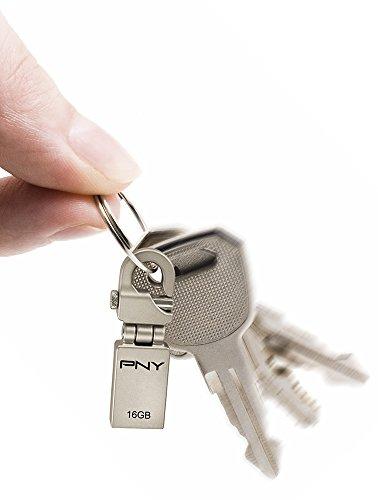 Pny Hook Attache USB 2.0 16GB Pen Drive (Silver)
