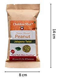 Chakhna Shot Jalapeno Twist Flavour Peanut Pouch – Time Pass Snacks – Ready to Eat Premium Healthy Spicy Snack Mix – Indian Snack - Masala Peanuts 50g (Pack of 4)