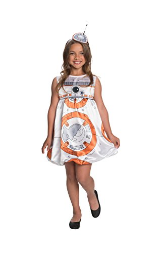 Rubie 's Offizielle Star Wars bb-8Deluxe Kleid Kostüm–Mädchen groß