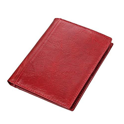 Lussebaby Brieftasche Coin Schlüssel Beutel Geldbeutel Geldbörsen Portmonee RFID Männer Und Frauen Leder Multifunktions-Passpaket Id-Kartenhalter, 2 (Zwei Rfid Id-geldbörse)
