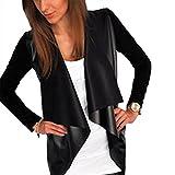 YSTWLKJ Damen Lederjacke Bomberjacke Revers Leather Bikerjacke Blazer Fliegerjacke Trenchcoat Outwear