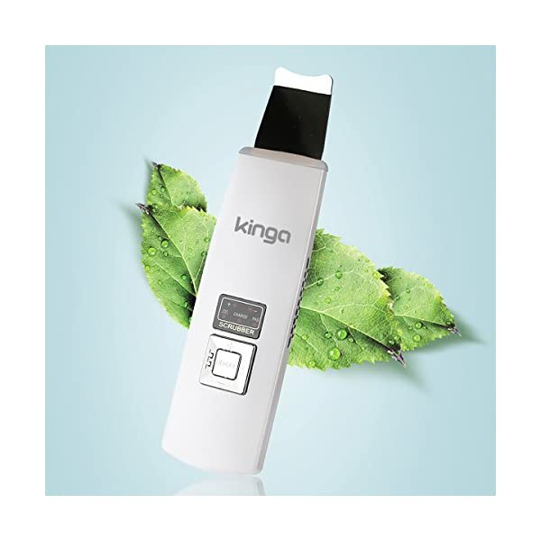 KINGA Facial Skin Ultrasonic Scrubber SPA Gentle Peel Dermabrasion Skin Rejuvenation Anti-Age Device Cordless/Chargeable by KINGA