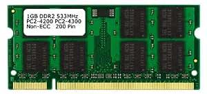 Samsung 3rd 1GB DDR2 PC2-4200 PC2-4300 533MHZ SODIMM (200 Pin) mémoire d'ordinateur portable