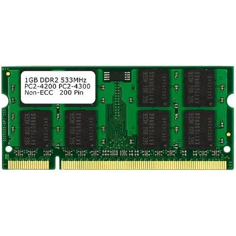 Samsung 3rd 1GB DDR2 PC2-4200 PC2-4300 533MHZ SODIMM (200 Pin) memoria del computer portatile