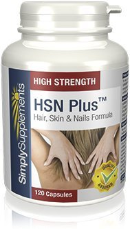 SimplySupplements Hair, Skin & Nails|Best Selling Formula with Collagen & MSM|120 Capsules