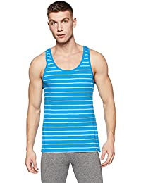 United Colors of Benetton Men's Cotton Vest (LM70I_Medium_Sky Blue and Grey)-901
