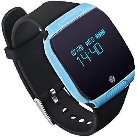 E07S【IP-68】impermeabile intelligente orologio smart watch bracelet appositamente progettato per nuoto e bicicletta; Bluetooth 4.0 Sport Bracciale Calorie Tracker Sport Wrist Band Pedometro Salute sonno Monitor Braccialetto Wristband Compatibile con Android 4.3 /4.4 /4.5 /5.0 /5.1, IOS 7.1 8.0 8.1 4s / 5s / 6 / 6S / 7 Smartphone